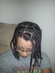 Chunky, medium-sized braids.